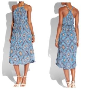Lucky Brand Goddess Halter Grecian Boho Dress